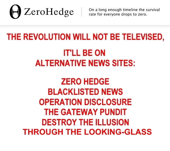 ! Alternaitve News Sites the Revolution won't be Televised2