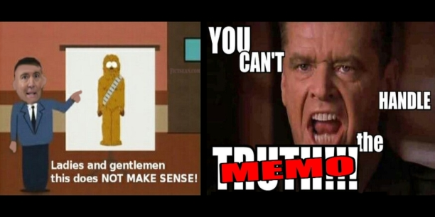 Jack Nicholson You Can't Handle the Truth Schiff Chewbacca Defense MEMO