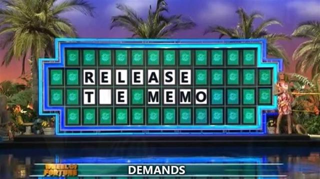 Wheel of Fortune Release the Memo H