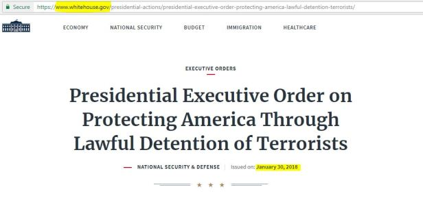 White House .gov Executive Order Jan 30