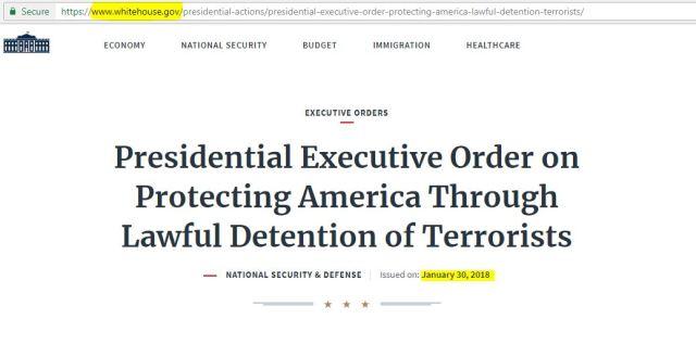 White House .gov Executive Order Jan 30