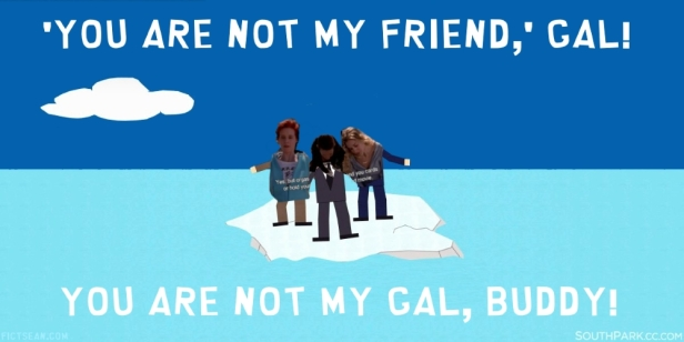 You are not my Friend Gal Buddy Kim Cattrall Sarah Jessica Parker SJP BANNER