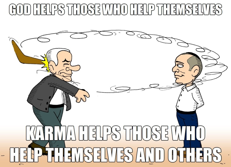 ! Karma Boomerang God Helps Those