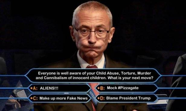 ! Podesta Who Wants to be a Millionaire Game Show Question Anwer Choices