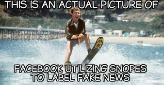 ! Facebook Jumping the Shark Fonzie Snopes Zuckerberg