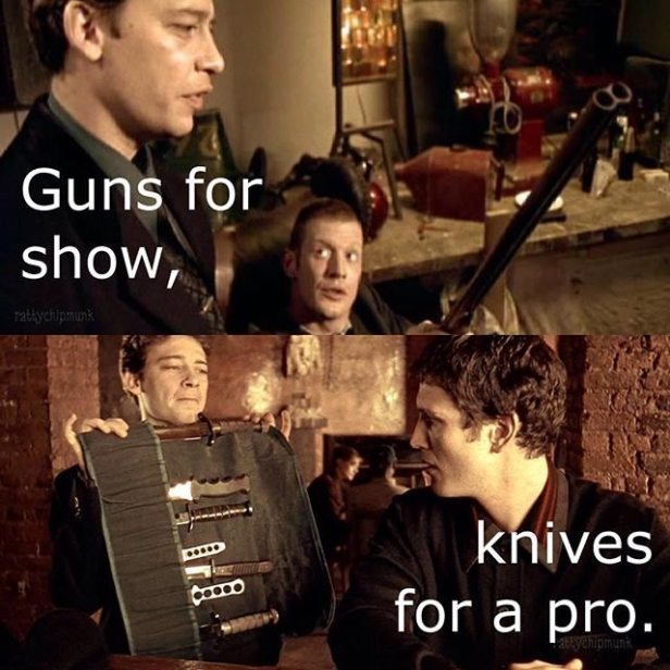 ! Guns for Show, Knives for a Pro Lock Stock