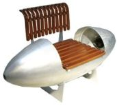 Aviation Retro Chair Bench 1