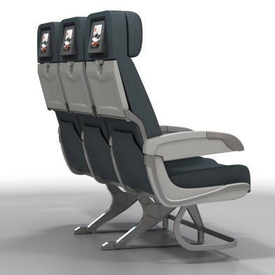Aviation Retro Chair Seat Row 2a