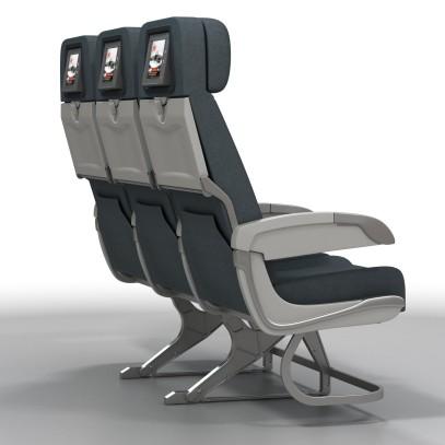 Aviation Retro Chair Seat Row 2a