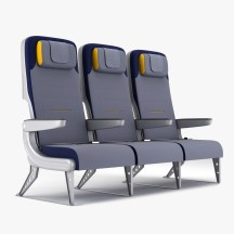 Aviation Retro Chair Seat Row 2b