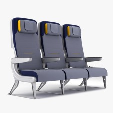 Aviation Retro Chair Seat Row 2b