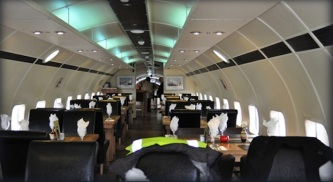 Aviation Retro ! Interior Dining Room DC7