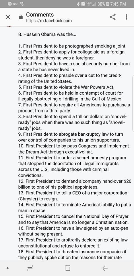 ! Obama List 1