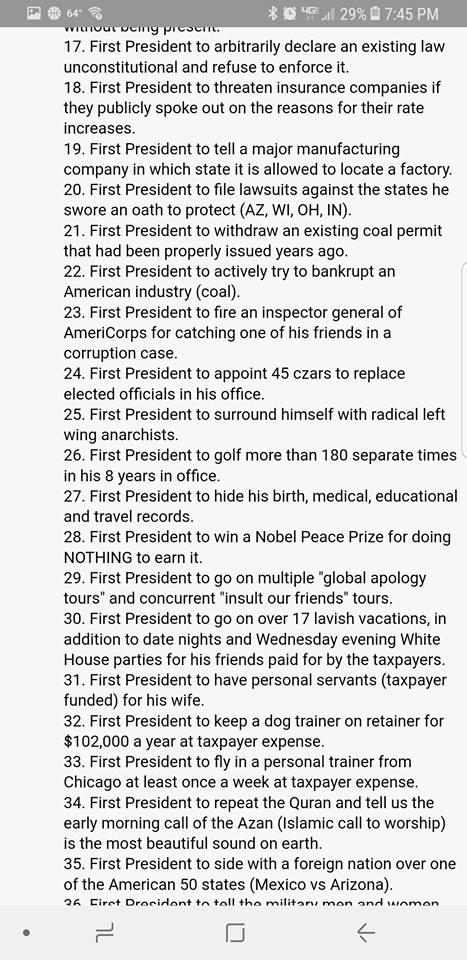 ! Obama List 2