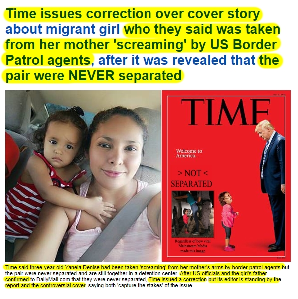 .1 180623 Time Magazine Issues Correction in spite of Snopes2HL