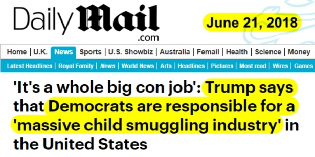180621 Trump says Democrats are behind a Child Sex Ring BANNER