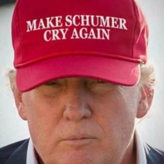 ! Make Schumer Cry Again Chuck MAGA Red Hat Trump