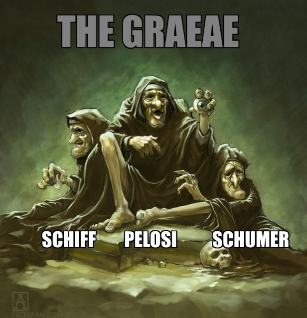 Three Blind Mice Graeae 1 Schiff Pelosi Schumer Meme