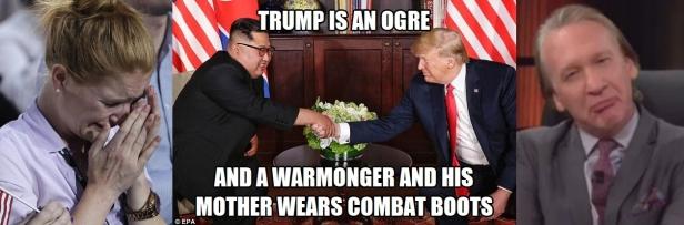 ! Trump Kimg Jong-Un Ogre Warmonger Triptych