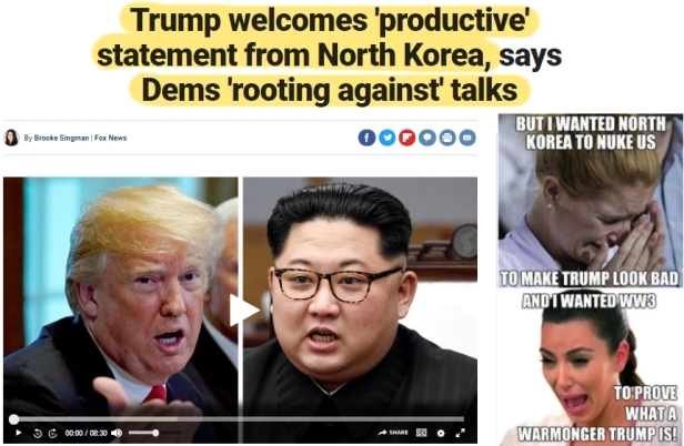 ! ! Trump North Koreak Talks Dema root against