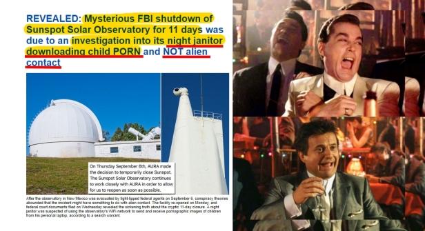 180920 Solar Observatory shut down for 11 days for JANITORS CHILD PORN HL2