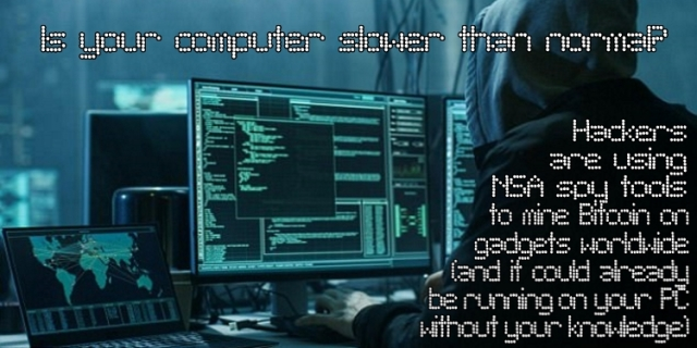 Hackers Image BANNER Bitcoin Mining Computer Slower than Normal