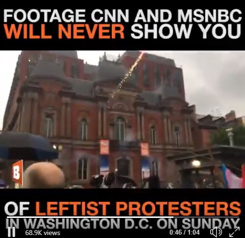 1808012 Leftist Violent Protestors in Washington DC not shown by MSM