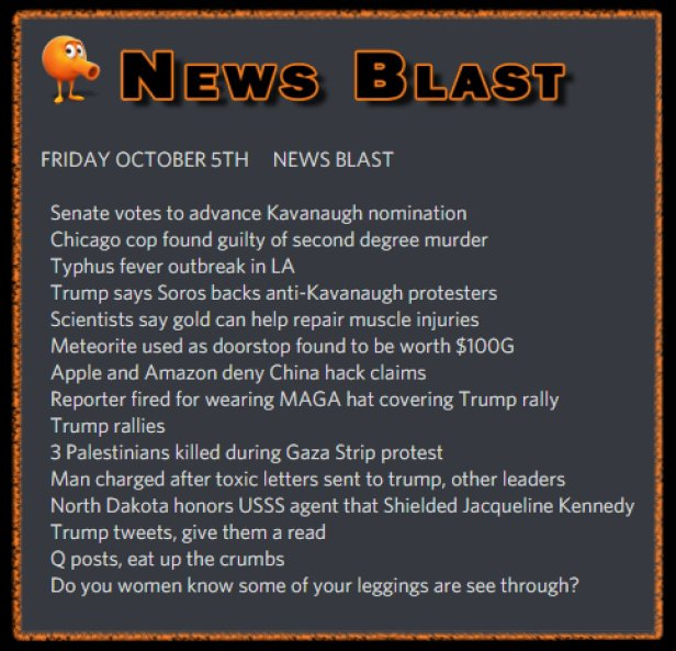 181005 News Blast by ENoCH