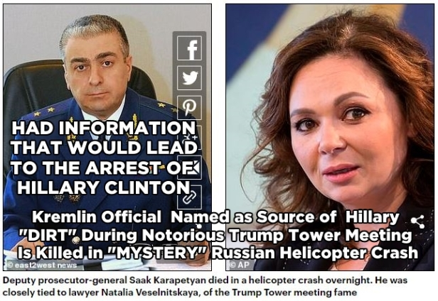 181005 Russian who had dirt for Hillary's Dirty Dossier Dies in Helicopter CrashPHOTOSCaptioned