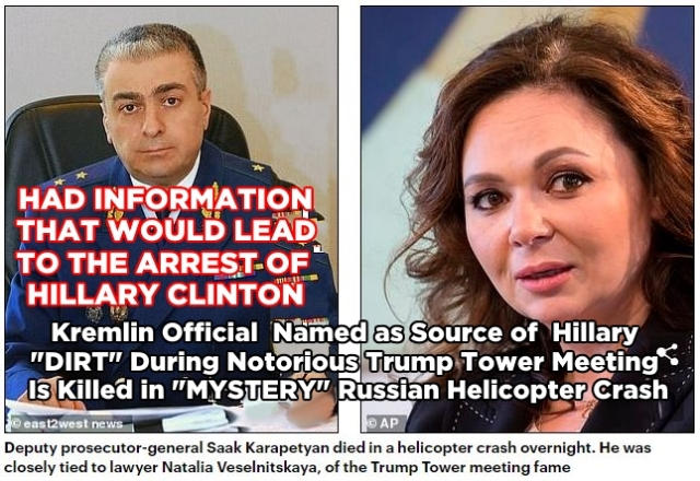 181005 Russian who had dirt for Hillary's Dirty Dossier Dies in Helicopter CrashPHOTOSCaptionedRED