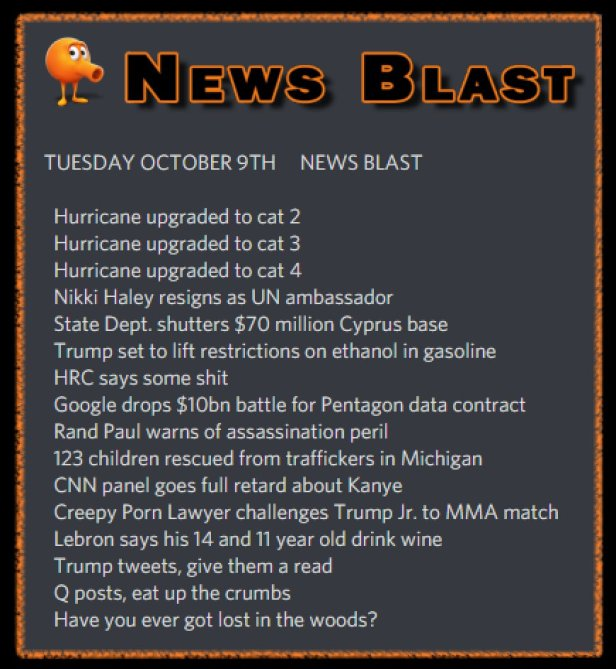 181009 News Blast by ENoCH