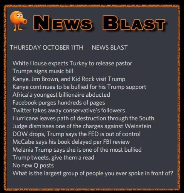 181011 News Blast by ENoCH