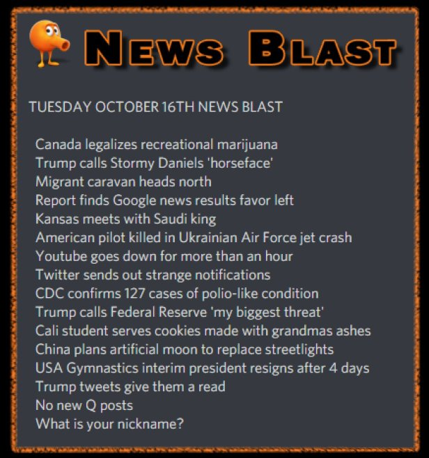 181016 News Blast by ENoCH