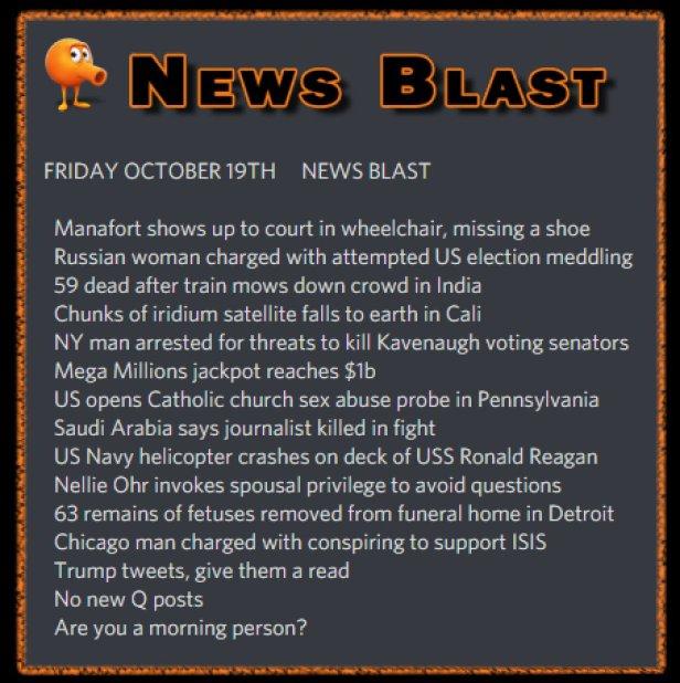 181019 News Blast by ENoCH