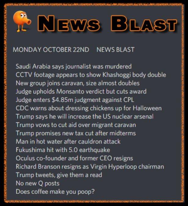 181022 News Blast by ENoCH