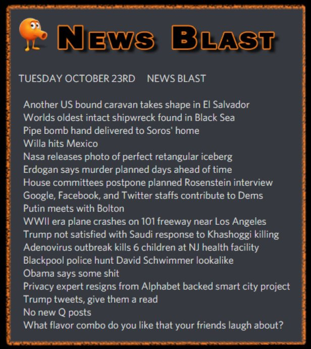 181023 News Blast by ENoCH