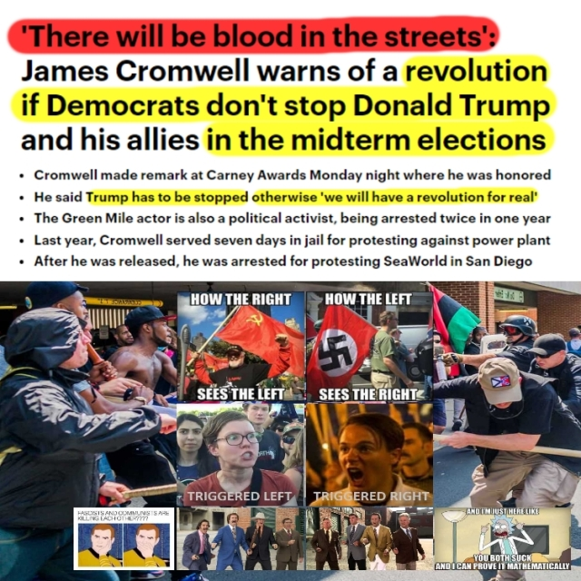 181030 James Cromwell There Will Be BLOOD IN THE STREETS