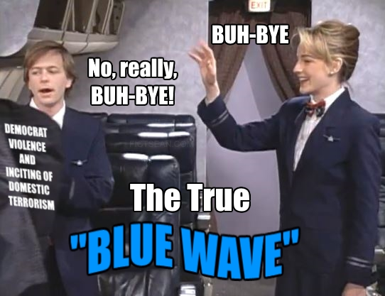 .5 Buh Bye SNL Flight Attendants David Spade Helen Hunt WAVE