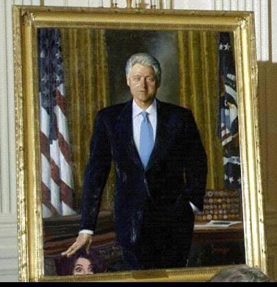 Bill Clinton Offical Portrait Monica Lewinsky