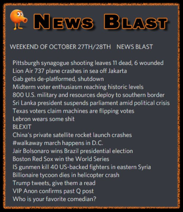 181027-8 News Blast by ENoCH