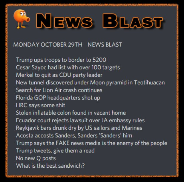 181029 News Blast by ENoCH