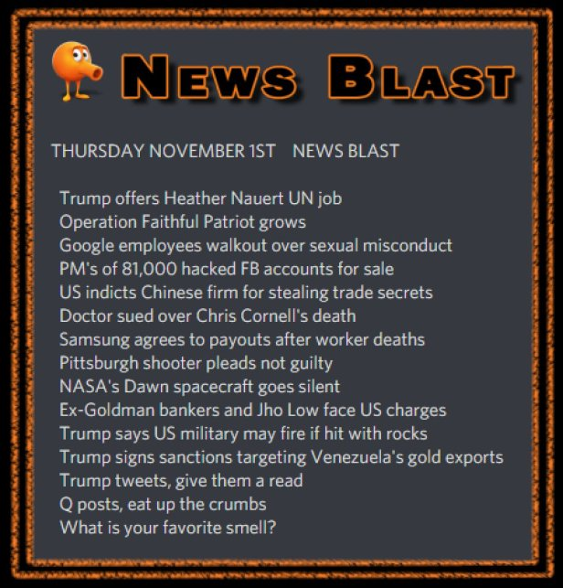 181101 News Blast by ENoCH