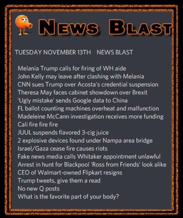181113 News Blast by ENoCH