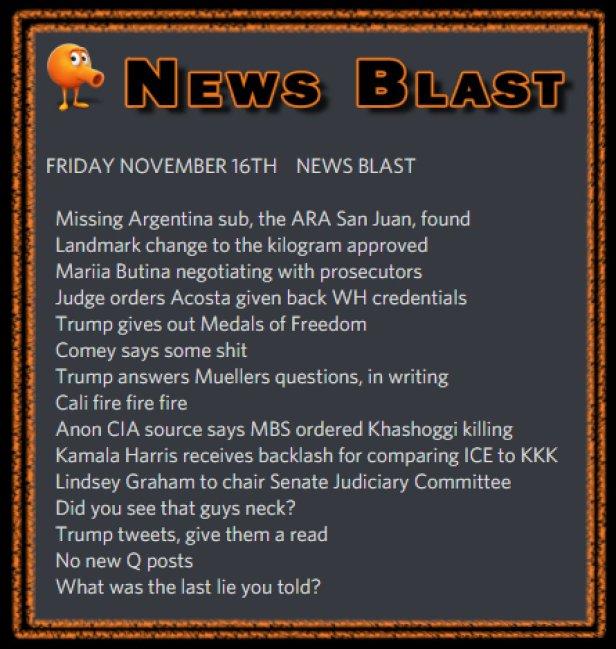 181116 News Blast by ENoCH