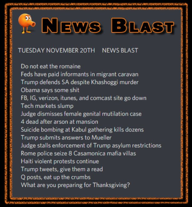 181120 News Blast by ENoCH