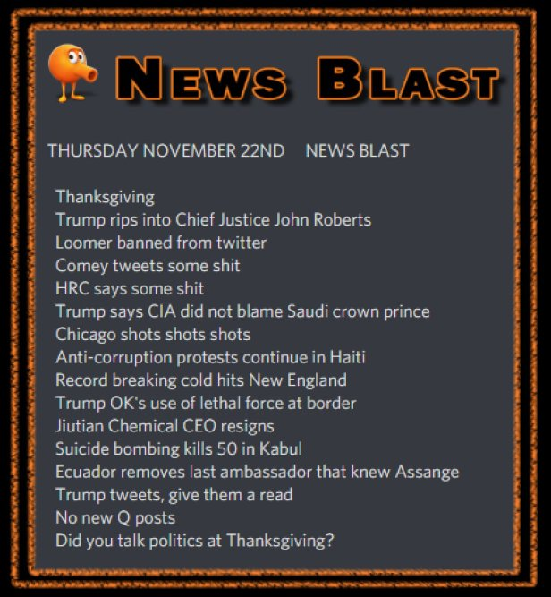 181122 News Blast by ENoCH