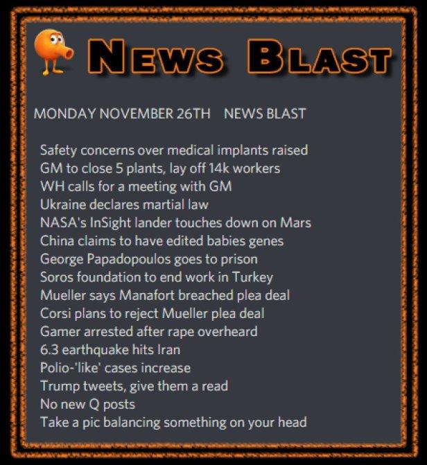 181126 News Blast by ENoCH