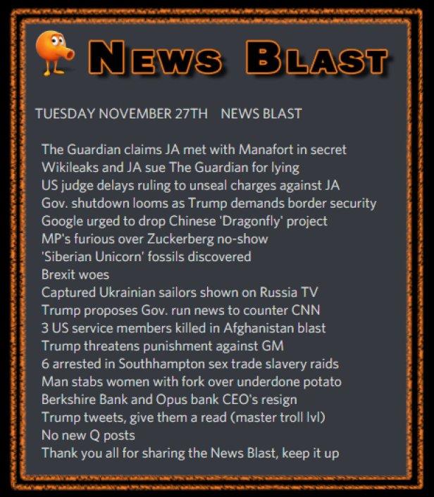 181127 News Blast by ENoCH