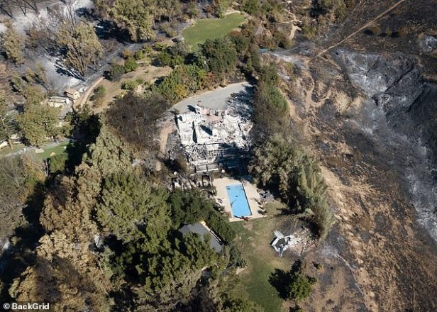 Liam Hemsworth Miley Cyrus' House Trees Not Burned 2