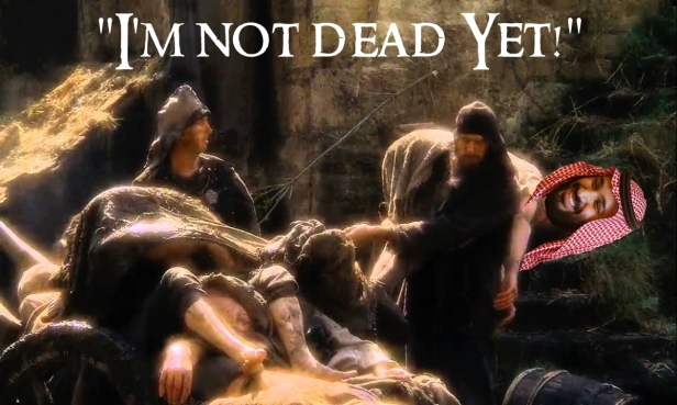Mohammed bin Salman I'm Not Dead Yet Monty Python